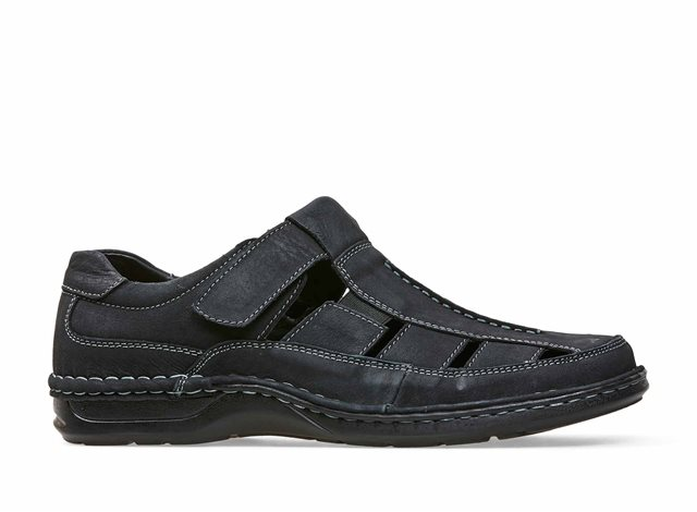Mens Padders Breaker dark Brown Leather Casual Sandals Shoes F and G Fittings